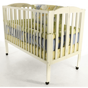 Vinyl, Metal Or Wood Folding Cribs