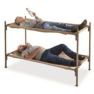 Rent The Bunk Bed Steel Frame Italian Military Portable Cot Heavyweight Cotton 41310-38(EBFS)