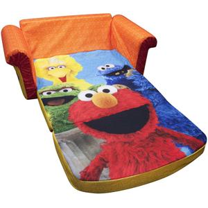 Marshmallow 2 In 1 Flip Open Sofa, Sesame Streetu0027s Elmo (WFS)