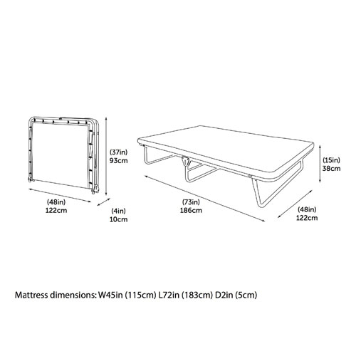 Saver Folding Bed with Memory Foam Mattress 10111(WFFS)