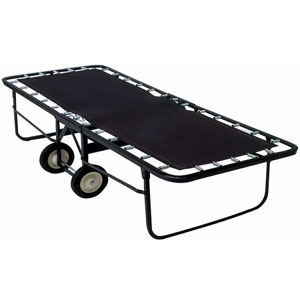 Angle Steel Rollaway W/Poly Deck Surface W/ Mattress (275 Lbs Weight Capacity) 129_(LP)