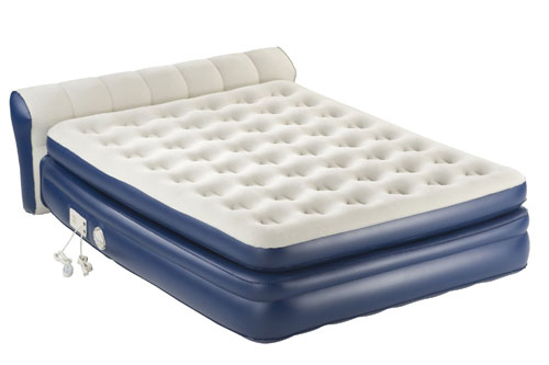 AeroBed Elevated Premier Mattress with Headboard and Built-In Pump, Queen (AZFS)