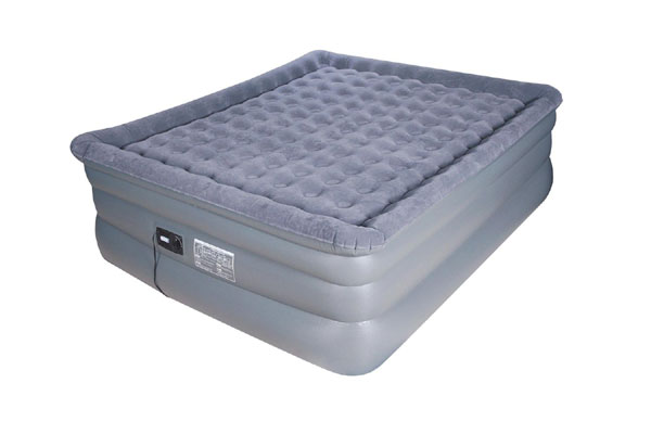 King Raised Pillow Top Comfort Coil Air Bed With Built In