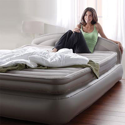"AeroBed Comfort Anywhere 18"" Air Mattress with Headboard Design 35713(AZFS)"