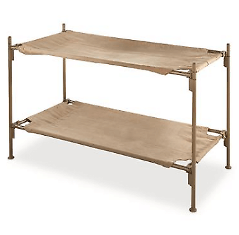Rent The Bunk Bed Steel Frame Italian Military Portable Cot Heavyweight Cotton 41310-38(EBFS)(Ships Throughout The USA)