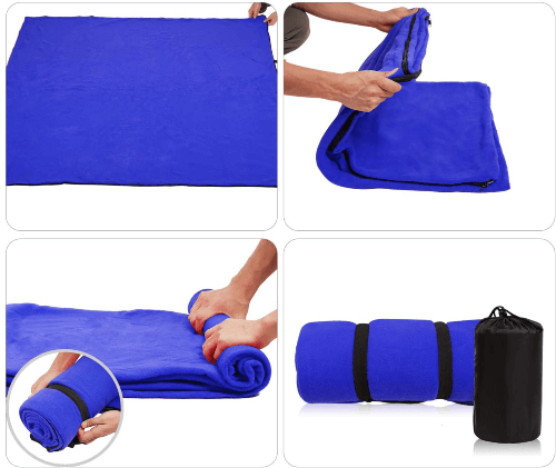 REDCAMP Fleece Sleeping Bag Liner for Adult (Multiple Colors)