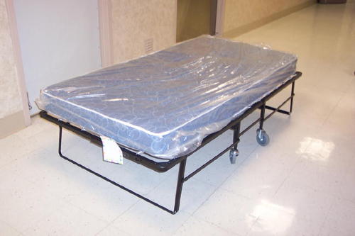 Heavy-Duty Rollaway Bed With Innerspring Mattress (400 lbs Wt.Capacity) 759235(HDSSFS300)