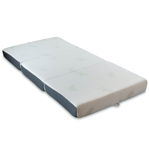 6-Inch Memory Foam Ventilated Tri-Folding Mattress Twin Size With Handles