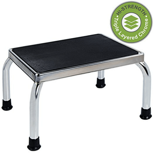 Medical Foot Step Stool With Anti-Skid Rubber Platform (300 Lbs Weight Capacity)