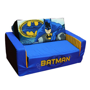 Batman Flip Sofa Bed With Sleeping Bag Rollaway Beds