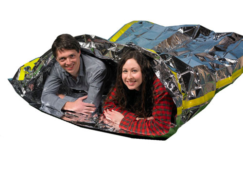 Emergency Survival Mylar Thermal 2 Person Sleeping Bag (AZFS)
