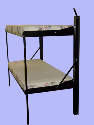 Liftco Streamline Folding Bunk Twin- Twin With Mattress Support Rail Kit 960100(LFCFS)(Weight Capacity 300 Lbs Per Bunk)