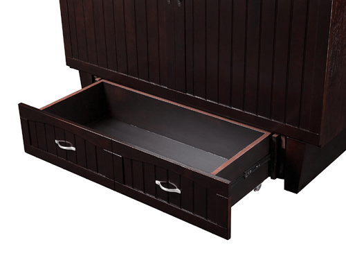 Solid Wood Nantucket Queen Size Murphy Bed Chest