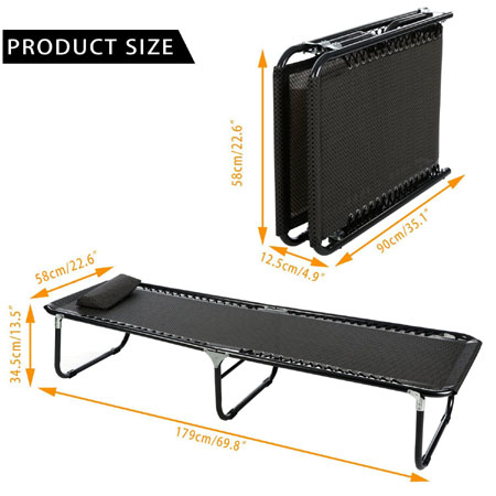Extra Long Heavy Duty Strong Simple Military Style Cot