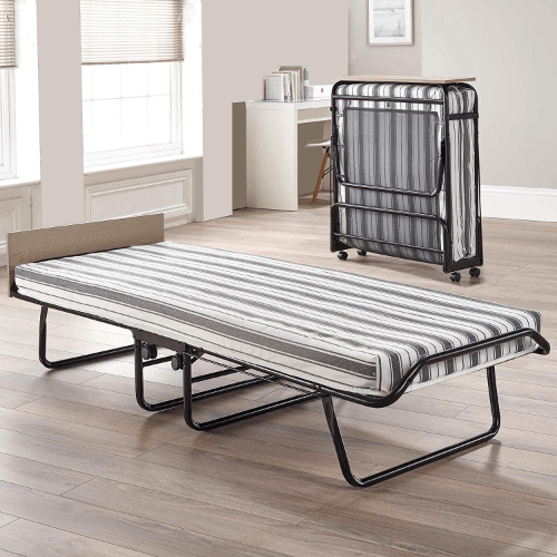 Serta 39 In. Portable Rollaway Bed with Twin Mattress And Headboard