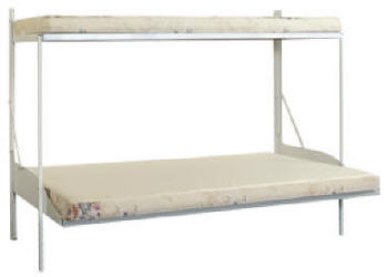 Twin/Full Folding Bunk Bed With The Mattress Support Rail Kit 960101(LTCFS)