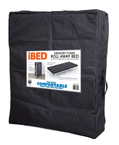 Memory Foam Deluxe Rollaway Guest Folding Bed With Storage Bag (CRFS)