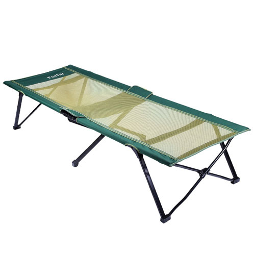 Forfar Portable Lightweight Comfortable Green 75 Inch Folding Camping Bed and Cot (AZFS)