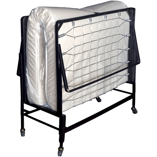 "Harth Metal Rollaway Bed with Mattress, Multiple Sizes 19.5"" Off The Ground (WFS)(Weight Capacity 275 LBS)"