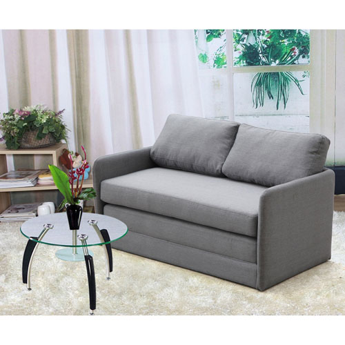 Reversible 5.1 inches Foam Fabric Loveseat and Sofa Bed S5058(OFS)