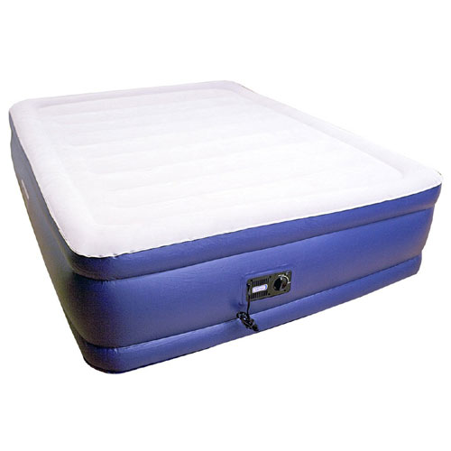 "Deluxe 20"" Raised Air Mattress with Built-in Pump 600 Lbs Weight Capacity (WFFS)"