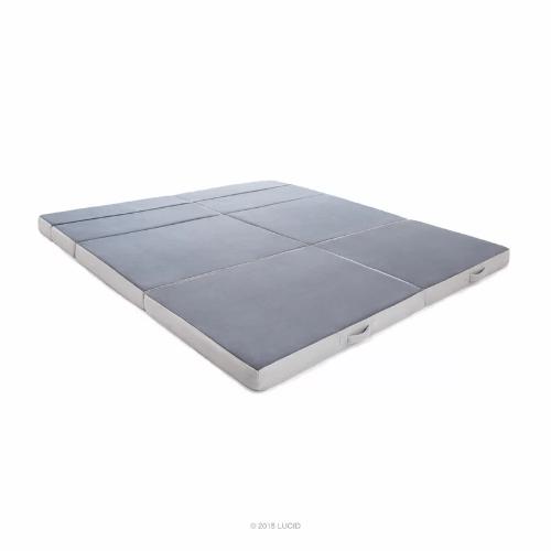 King Sizes Folding 4 In Firm Memory Foam Mattress Lu04