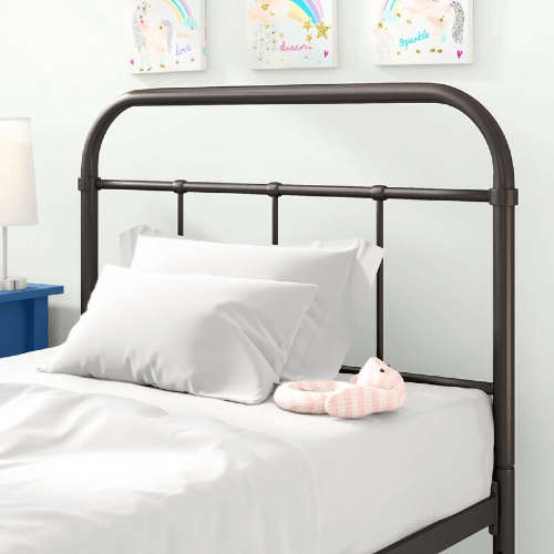 Lorenzo Twin Wrought Iron Headboard (Multiple Colors)