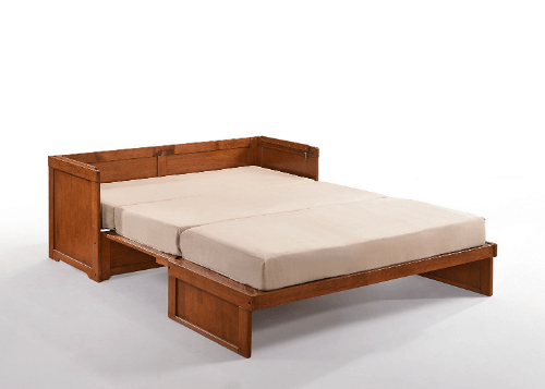 Solid Wood Murphy Cube Cabinet Bed, Queen
