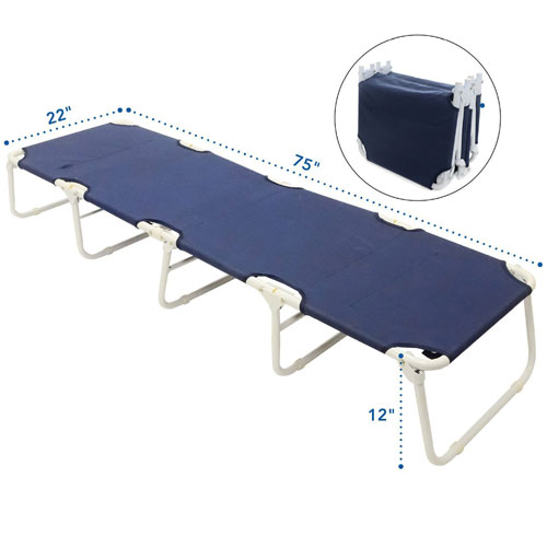 Camping Cot 5 Legs for Added Stability (AZFS)