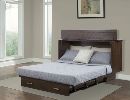 Queen Size Traditional Flip Top Cabinet Zzz Bed 503 15 A