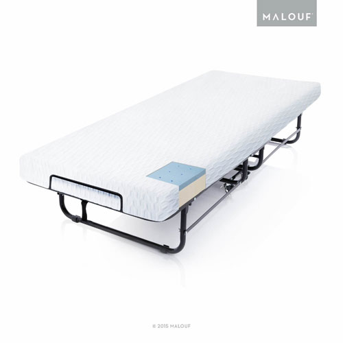 Rollaway Folding Guest Bed with Premium Gel Memory Foam Mattress ST04CTMFRB(AZFS)