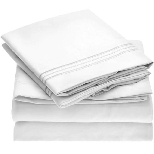 Mellanni Sheet Set Brushed Microfiber 1800 Bedding-Wrinkle