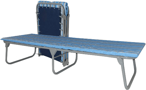 Heavy Duty Steel Military Style Folding Cot with Foam Mat XB-4(375 Lbs Weight Capacity)