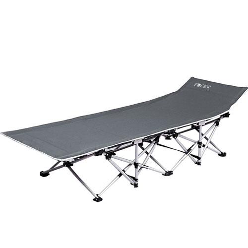 YOLER Breathable Textilene Deluxe Military-style Lounge Cot (AZFS)