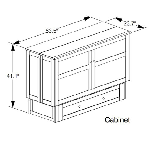 Solid Wood Clover Murphy Bed Cabinet (DNFS)