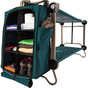 Cam O Bunk Foldaway Adult Bunk Bed With Leg Extensions And Cabinet