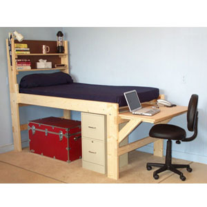 Rent A Solid Wood All Sizes High Riser Bed (USM)