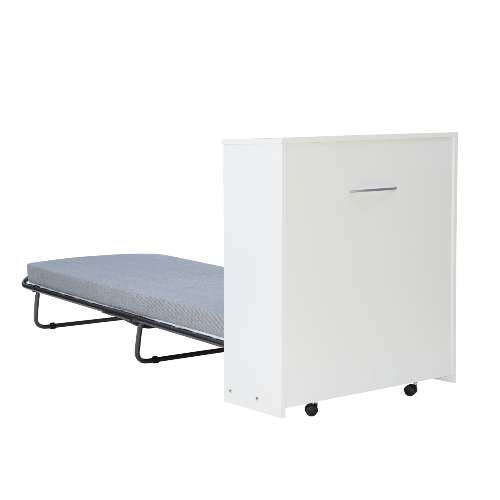 Malus Folding Rollaway Bed with Storage Cabinet and Memory Foam OSLN8639 (220 Lbs Weight Capacity)