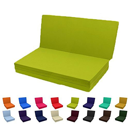 All Sizes Solid Color Tri Fold Bed White Foam AZFS