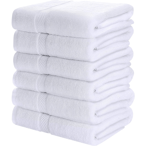Utopia Towels Medium Cotton Towels  24 x 48 Inches (Pack Of 6)