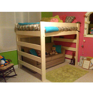 Rent The Premier All Sizes Solid Wood Loft Bed Rollaway