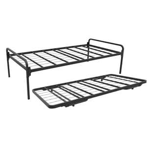 Trundle Day Bed With Roll Out Stand Up Bottom Deck (400 Lbs Weight Capacity)