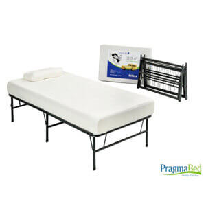 Quad-Fold Twin XL Frame with Memory Foam Mattress 14792367(OFS318)(Weight Capacity 1200 lbs)