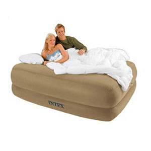 Memory Foam Queen Size Air Bed with Remote 66956(EAM)
