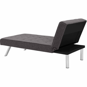 DHP Emily Futon Chaise Lounger (350 lbs Weight Capacity)