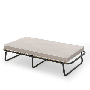 Folding Bed with Memory Foam Mattress Metal Guest Sleeper (200 Lbs Weight Capacity)