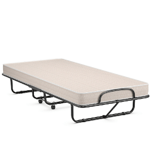 Rollaway Guest Bed with Sturdy Steel Frame Mattress and Wheels (440 lbs Weight Capacity)
