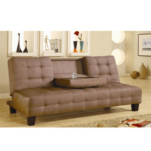 Microfiber Futon Sofa Bed 300154 (CO)