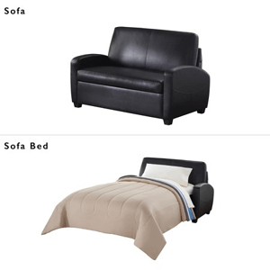 54 In. Faux Leather Loveseat Sleeper 3350-SB(WFS)