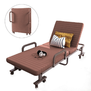 Premium XL Adjustable  Rollaway Bed with Comfort Luxurious Memory Foam Mattress (Weight Capacity 500 lbs)